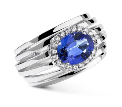 Loud Love Jewelry sapphire white gold and diamonds