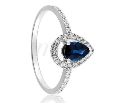 Loud Love Jewelry ring in blue sapphire