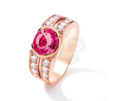 Loud Love Jewelry Pink Sapphire Ring in Rose Gold